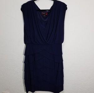 Scarlett navy ruffle midi dress size 14